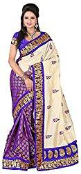 Lizel Fashion Women's Silk Saree (KalapiBlue, Purple)