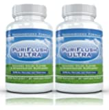 PURIFLUSH ULTRA (2 Bottles) - Advanced All-Natural Colon Cleansing Formula - Intestinal Cleanse Supplement (60 Capsules per Bottle)