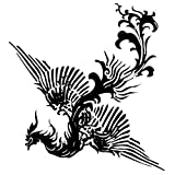 GGSELL Extra Large Size A4 Size 8.3 X 11.7 Inches Waterproof Phoenix Temporary Tattoos