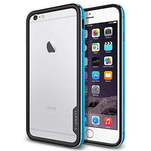 iPhone 6 Plus ケース, Spigen® [ リアル アルミニウム バンパー] ネオ・ハイブリッドEX メタル Apple iPhone (5.5) アイフォン 6 プラス カバー (国内正規品) (メタル・ブルー SGP11193)