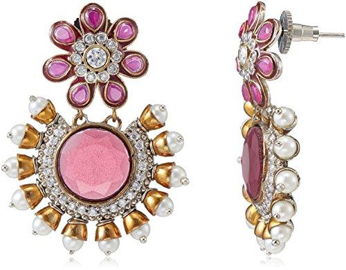 Iris Spirit Of Iris Victorian Drop Earrings For Women (Silver) (VE4023)
