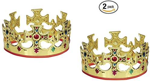 unique-gold-plastic-jeweled-king-crown-2
