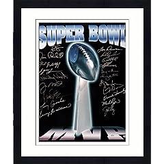 Framed Super Bowl MVP Autographed Trophy 16