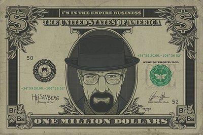 Poster Dollaro Breaking Bad Heisenberg - 91.5 x 61cm