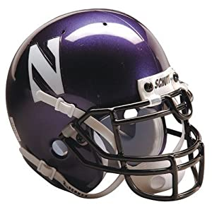 Northwestern Wildcats Schutt Authentic Full Size Helmet by Caseys