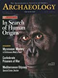 img - for Archaeology Magazine (July August 1999) Rethinking Human Origins; Schliemann Mask of Agamemnon Debate; Mediterranean Odyssey; Confederate POW's in Captivity; Palenque Finds; Pre Clovis Surprise (Vol. 52, No. 4) book / textbook / text book