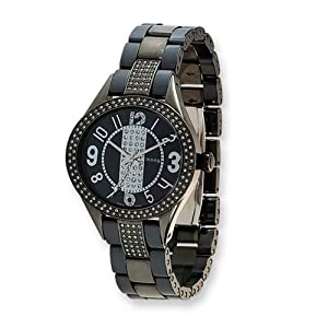 Fashionista Exquisite Black Ip-plated/black Ceramic Watch by Moog Watches, Best Quality Free Gift Box Satisfaction Guaranteed
