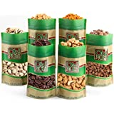 Mixed Nuts Gift Box - 6 Gourmet Varieties 30 Oz - Great for Gift Giving Or As an Everyday Snack Love it or its free - it's the Oh! Nuts Guarantee