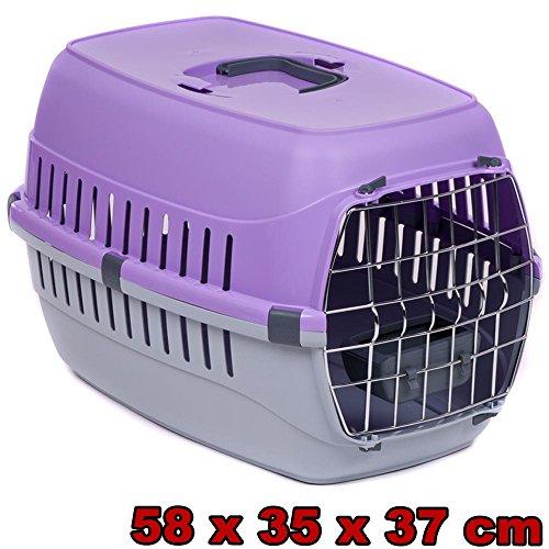 transportbox f r hund katze mit metallt r und. Black Bedroom Furniture Sets. Home Design Ideas