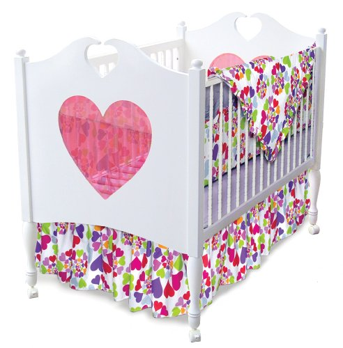 Room Magic 4 Piece Crib Set, Heart Throb