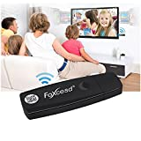 Foxcesd Dongle 1080P Miracast Wireless HDMI Display Adapter Mirroring Streaming Videos, Audio, Picture, Live Camera and Music from iPhone, iPad, Andorid Smart Devices to TV, Monitor or Projector