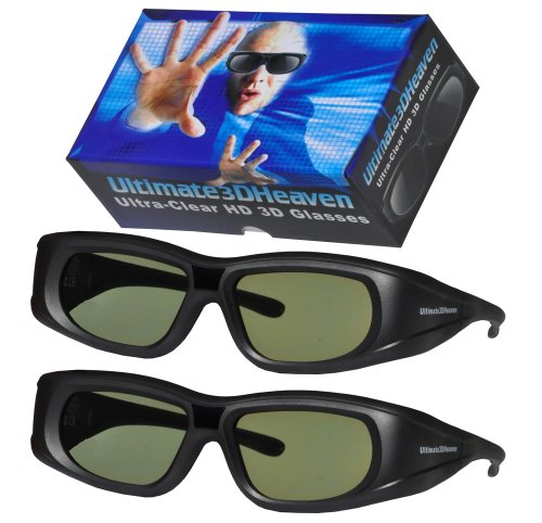 2 Ultra-Clear 3D Glasses for Panasonic 3D Televisions