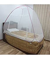ROYAL speciality products single bed Foldable Mosquito Net Pink color (For Genuine Product only buy from Speciality Products)