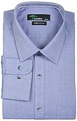 SWATHE Men's Formal Shirt (6006-1-38, Blue)