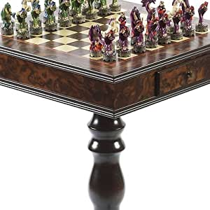 Hand Painted Fantasy Chessmen & Frizoni Chess Table From Italy available at Amazon for Rs.183226