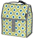 PackIt Freezable Lunch Bag with Zip Closure, Geometric