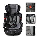 Babyfield - Schwarzer Kindersitz für Kinder der Normgruppen 1-3 - Sicherheitskindersitz von 9 bis 36 kg