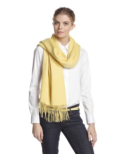 Sofia Cashmere Women's Woven Fringe Wrap, Sunlight As You See
