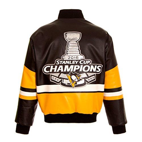 NHL Pittsburgh Penguins 2016 Stanley Cup Champions Men's Leather Jacket (2X)