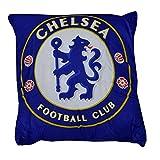 チェルシー フットボールクラブ Chelsea FC オフィシャル商品 クレストデザインクッション イギリスサッカークッション ピロー 枕 (ワンサイズ) (ブルー)