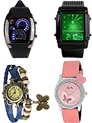 Pappi Boss Analogue-Digital Multi-Colour Dial Women's Watches -branded watches