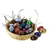Paper Mache Wooden Ornaments Home Decorations Set of 18
