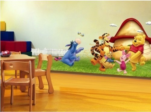 Removable Vinyl Wall Sticker Mural Decal Art -Giant Combo Kids Children Winnie The Pooh Party Nursery Wall Stickers art Paper
