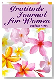 Gratitude Journal For Women - With Bible Verses. Plumeria Profusion in Purple is the cover of this 5-minute gratitude journal for the busy woman.