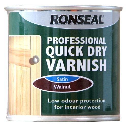 Ronseal Pro Quick Dry Varnish 250ml Walnut