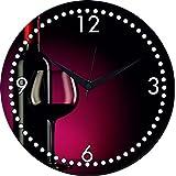 MeSleep Wine Wall Clock With Glass Top