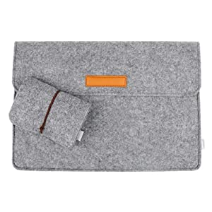 Inateck 13.3 Inch MacBook Air/ Pro Retina Case Cover Sleeve Ultrabook Netbook Carrying Protector Bag Envelope Case for 13 Inch Apple Macbook Pro Retina/Macbook Air, Most 11-Inch Ultrabook Netbook [Size: 13.3-Inch, Grey Felt]