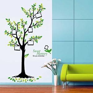 Walplus - Vinilo decorativo para pared, diseño de árbol verde, multicolor marca Walplus - BebeHogar.com