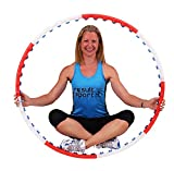 ResultSport Level 1 Anion Massage Weighted 0.75kg (1.65lbs) Fitness Exercise Hula Hoop 105cm wide