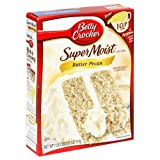Betty Crocker Supermoist Cake Mix, Butter Pecan, 18 Oz Boxes (Pack of 12)