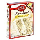 Betty Crocker Supermoist Cake Mix, Butter Pecan, 18 Oz Boxes (Pack of 12) ~ Betty Crocker Baking