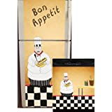 Appliance Art Chef Refrigerator and Dishwasher Combo Magnet (T&B) Cover ~ Appliance Art