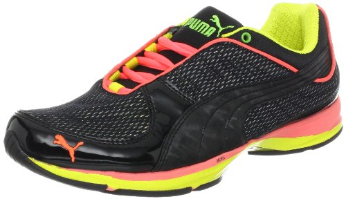 PUMA Women's Wylie Infinity 2.5 Mesh Running Shoe,Black/Fluorescent Peach/Jasmine Green,8.5 B US