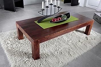 Mesa de centro colonial 80 cm de madera de acacia maciza muebles OXFORD cubo #451