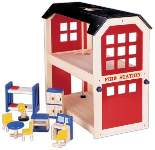 Wooden Fire Station  &  Accessories