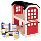 Wooden Fire Station & Accessoriesby PINTOY