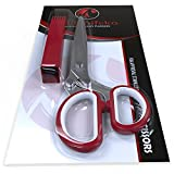 Magnifeko Herbs Scissors with 5 Blades - Stainless Steel Kitchen Scissors - RED