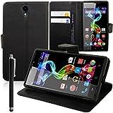 VCOMP® PU-Leder Handy Brieftasche mit Kartenfächer und