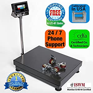 "Prime Scales 1000lb/0.1lb 22""x32"" Bench Scale / Floor Scale / Checkweigher with Indicator"