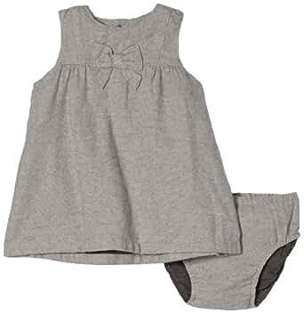 NAME IT Baby - Mädchen Kleid 13091170 PALILA SO NB SPENCER, Gr. 74, Grau (Castlerock)