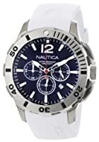 Nautica Men's N16568G BFD 101 White Resin and Blue Dial Watch by Nautica