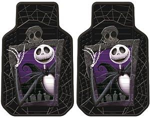 Nightmare Before Christmas Jack Skellington Graveyard Zombie NBC Front Car Truck SUV Floor Mats - Pair