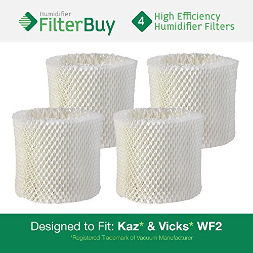 4 - WF2 Kaz & Vicks Replacement Humidifier Wick Filters. Designed by FilterBuy in the USA. (Replacement Filter Kaz Wf2 compare prices)