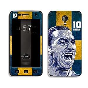 Bluegape Micromax Unity 2 A106 Zlatan Ibrahimovic Football Player Phone Skin Cover, Multicolor
