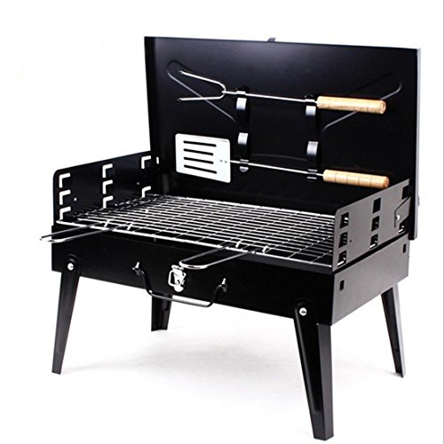 Stainless Steel BBQ Griller Stove Charcoal Grill Barbecue 44x22x26 CM Foldable (Bbq Manifesto compare prices)