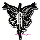 2 x Glossy Vinyl Stickers - Relentless Crest Tool Box Laptop Decal #0063 (As shown.)